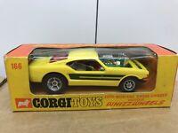 1970's CORGI Toys WHIZZWHEELS Ford Mustang Dragster Organ Grinder Model Car 166