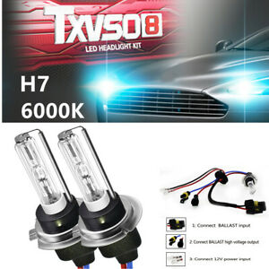 Pair of Xenon HID KIT's Car SUV Headlights Light Bulbs Lamp H7 55W 6000K Superb