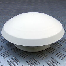 ROOF VENT for 80mm HOSE, WHITE ROUND MUSHROOM, CARAVAN MOTORHOME HORSEBOX BOAT