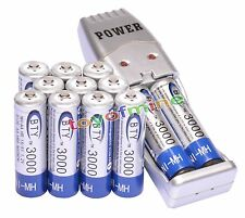 12x AA 2A 3000mAh 1.2 V Ni-MH BTY Rechargeable Battery Cell + AA AAA USB Charger