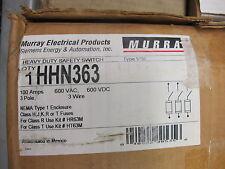 Murray Hhn363 100 Amp 600 Volt 3p3w Fusible Disconnect New B