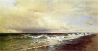 Art Oil painting Francis A. Silva - Seascape with ocean wave before storm canvas