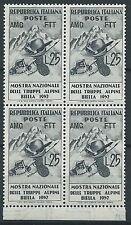 1952 TRIESTE A TRUPPE ALPINE QUARTINA MNH ** - ED137