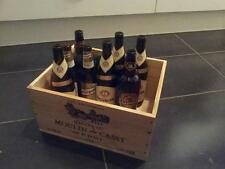 1 X FRENCH RETRO CHIC GENUINE WOODEN WINE CRATE BOX - RECYCLING BOX FOR GLASS