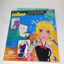 Fashion Design Sketchbook-Tattoo Design 100+ Templates,Age 3+.Creative,drawing