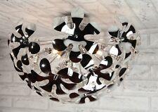 Lampadario moderno acciaio cromato plafoniera soffitto salone bagno cucina ecc..