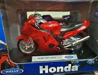 Moto Honda CBR1100XX Rossa - Scala 1:18 Die Cast - Welly - Nuovo
