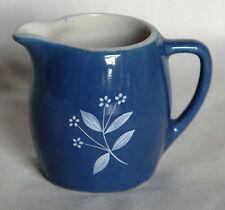 Vintage Miniature Glossy Blueware Jug -  New Devon Pottery