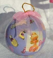Barbie ornament Vintage Repro Doll image with accessories New Round ornament