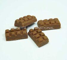 4 Dollhouse Miniature Chocolate Bars * Doll Mini Tiny Food Sweet Candy Choc Bar