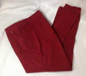 Pants Soft Cotton Twill red spice color sizes 16 Christopher & Banks