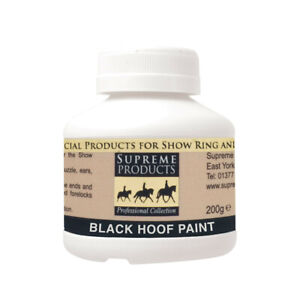 Supreme Products HOOF PAINT High Shine Showing Oil Varnish Black/Clear 250ml