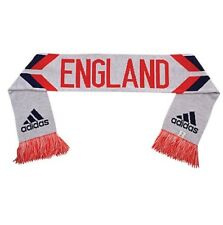 Adidas TEAM ENGLAND White Poppy Red Blue Soccer Football World Cup Scarf BNWT