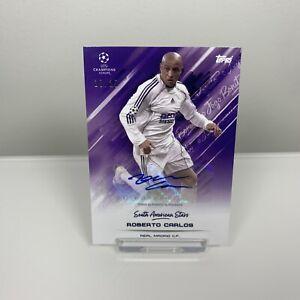 Topps Roberto Carlos Autograph Card O Jogo Bonito 20/25 Real Madrid Auto