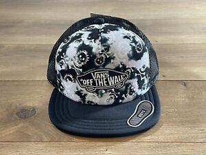 Vans By Classic Patch Trucker Boys Snapback Hat Black Adjustable ( VN000XNTZCT )