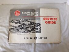 Vintage General Electric TV Receiver Service Guide
