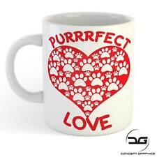 Funny Perfect Love Cat Dog Paw Print Hear Animal Lovers Coffee Cup Mug Gift