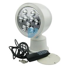 Marine Boat LED Remote Control Spot Light Project Wireless Floodlight 10-30V 27W