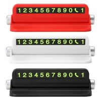 Plate Luminous  Holder Car Temporary Parking Phone Number Card Multi-function