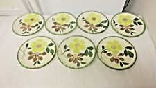 Lot 7 Older Blue Ridge Southern Potteries Floral Replacement Saucers-Green Edge