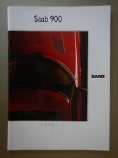 SAAB 900 RANGE orig 1990 UK Mkt Prestige Brochure - Turbo 16 16S Conv Carlsson