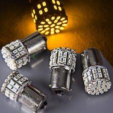 4 x Amber Ba15s 1156 50-SMD LED Car Rear Turn Light Signal Super Bright Bulb 12V