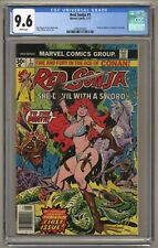 Red Sonja #1 (CGC 9.6) White pgs; Frank Thorne; Marvel; 1977; Newsstand (j#6318)