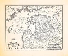 Livonia vulgo Livland Karte Estland Lettland Baltikum Kupferstich Merian 0624