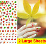 Autumn Maple Leaves Water Transfers Nail Art Stickers Decals UV Gel Decoration
