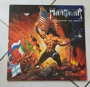 Manowar WARRIORS OF THE WORLD picture Vinyl LP limited Edition