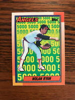 1990 Topps #3 Nolan Ryan Baseball Card California Angels HOF Raw
