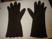 Vintage Brown Women's Gloves  Size Medium 7  NICE