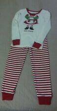 Gymboree girl Christmas Mrs. Claus holiday pajamas red white striped size 5