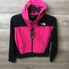 The North Face Girls Medium Pink Glacier Full Zip Fleece Hoodie NEW