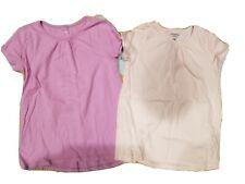 6 6x Carters LOT of 2 Girls Short Sleeve tshirts shirts pink purple