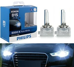 Philips Ultinon HID Xenon D1S 6000K White Two Bulbs Head Light Replace Upgrade