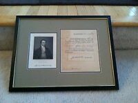 ** HISTORIC ** WAR OF 1812  SIGNED MILITARY APPOINTMENT - President James Monroe