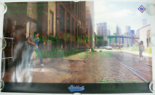 NIKE BaseBall Poster ☆ STICKBALL Dale Murphy Dwight Gooden ☆ WTC Brooklyn Bridge