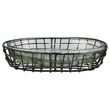 Primitive Style Metal Wire&Glass Bath Soap Dish Farmhouse Bathroom/Kitchen Decor
