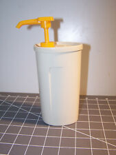 Tupperware Mustard Dispenser Vintage #1553 Pump and #640 Container