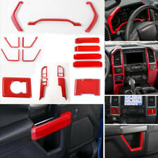 For Ford 2015-2018 F150 ABS Red Interior Accessories Whole Kit Covers Trim 17pcs