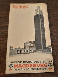 Amtlicher Führer durch die  Deutsche Theater Ausstellung  MAGDEBURG 1927
