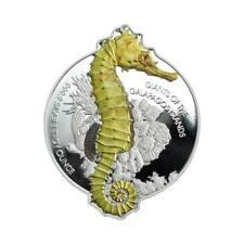 2020 Solomon Islands 1 Ounce Giants of the Galapagos Seahorse Silver Coin