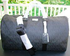 BNWT-Michael Kors Signature XTRA LARGE PVC Duffle Weekender Bag (BLACK)