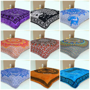 Bohemian Mandala Bedding Bed Cover Indian Queen Size Wall Hanging Tapestry Throw