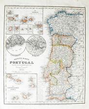 c1850 Portugal Kapverdische Inseln Madeira Azoren Stahlstich-Landkarte Radefeld