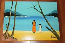 LARGE NICK PETALI ORIGINAL VIBRANT OIL PAINTING, REMINISCENT OF RAY CROOKE