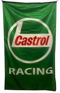 CASTROL RACING-FLAG GREEN VERTICAL BANNER 5 X 3 FT 150 X 90 CM