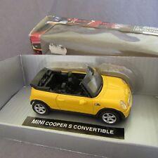 23F Newray 19033 Mini Cooper S Convertible Jaune + Boite 1:43