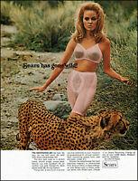 1969 Jungle woman in undies Tiger Sears bra panty vintage photo Print Ad  adL42
